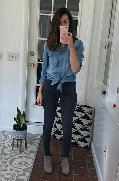 Jean Shirt_Knotted